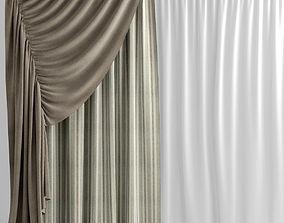 3D Curtains plaid
