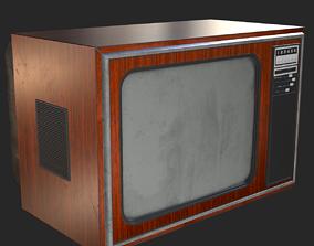 3D asset Retro Television 1970s PBR