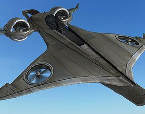 3D model FLY Game-Ready - BAC Batwing Helicopter