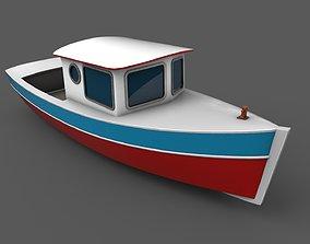 Vintage Cruiser Boat 3D asset