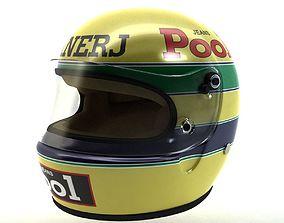 3D asset Ayrton Senna Helmet 1983