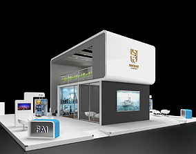 3d Exhibition Stand Booth Double Decker 15x15m