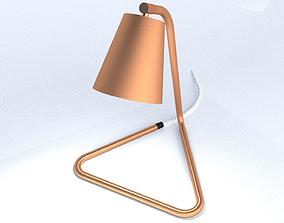 3D model Bent Copper Pipe Table Lamp