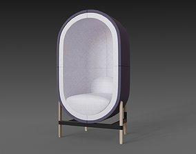 Capsule chair sofa 3D