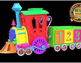 3D model Carton train