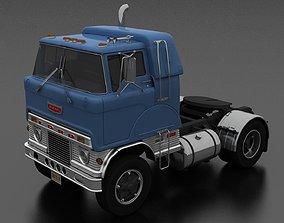 3D asset H-Series HD-950 Semi Truck Sleeper Cab 1961