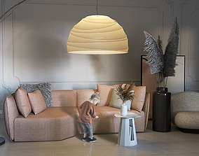 Classic Living Room 3D model VR / AR ready