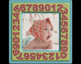 Picture Frame Surprise Baby Girl with 3D asset 2