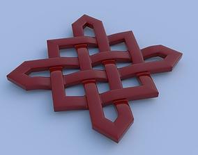 Celtic cross knot 3D model