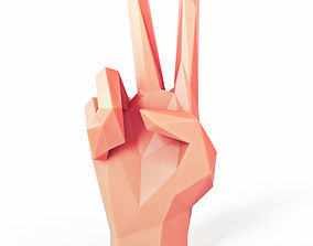 Hand Helping Low Poly 3D model