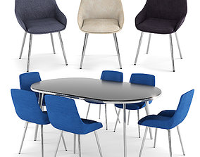 Dining Table - Cassidy Side Chair 2PK 3D model