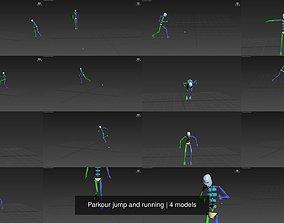 Parkour jump and running 3D
