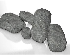 Realistic Low Poly 3D PBR Rocks low-poly