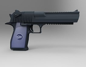 3D asset Desert Eagle Carbon Low Poly Mobile Game Ready