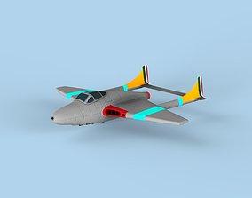 Jet plane 3D fast