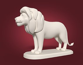 3D Cartoon Lion Statue
