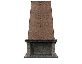 Brick Fireplace 3D asset realtime