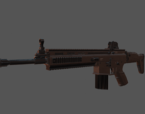 game-ready FN SCAR - 3D MODEL
