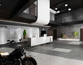 3D Office reception hall restaurant Leisure Area 1
