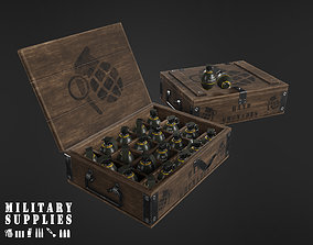 3D asset Military Supplies Pack - Grenade Boxes