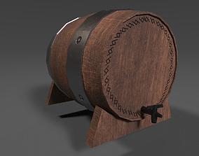 Wooden Keg 3D asset