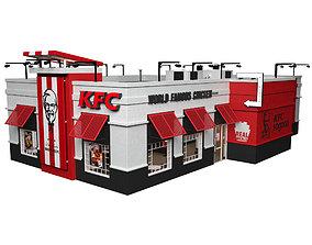 3D KFC Restaurant cheeseburger