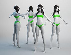 3D asset Female Basemesh 04