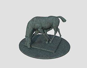 3D PBR Horse Statue