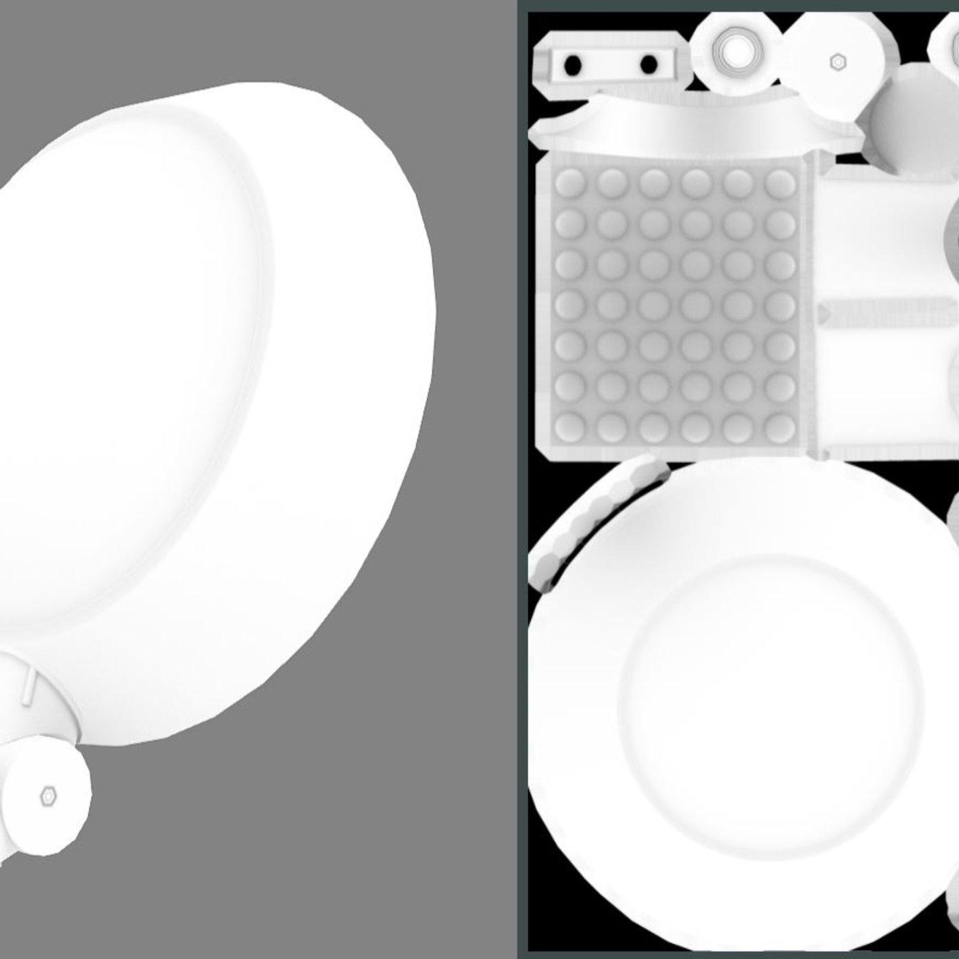 Sci-Fi City Light - Street Light 15 (Low-Poly Version) - Blender-2.80.1