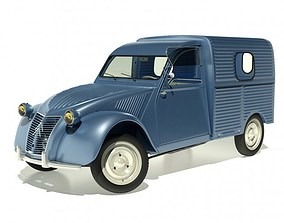 3D model 1958 Citroen 2CV AZU Van