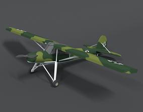 Low Poly Cartoon Fieseler Fi 156 Storch WWII 3D asset
