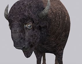 animated game-ready 3DRT - Bison