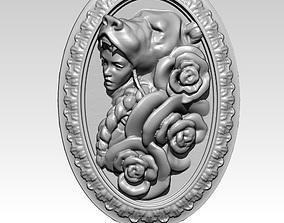 Girl pendant Bear Rose Jewel Jewelry printable model