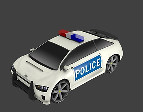 3D asset realtime Police Car Sport Audi Concept AAA