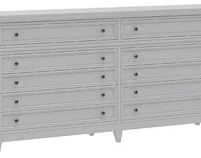 Dantone Home drawer chest 3D model