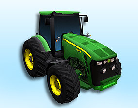transport heavy Tractor 3D model