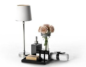 3D Table Lamp Rose Bouquet Perfumes and Towel