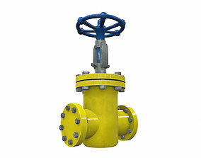 Industrial pipeline valve 2 3D model