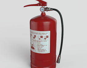 3D model emergency Fire Extinguisher