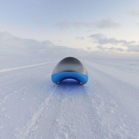A custom carbon/kevlar sled prototype