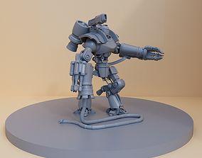 3D print model mechanical Justice robot