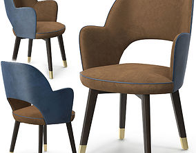Baxter colette chair with armrest 3D