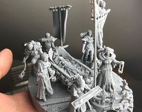 3D printable model Triumph of the dead saint Presupported