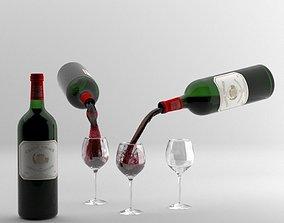Cabernet Sauvignon Pour 2 3D wine