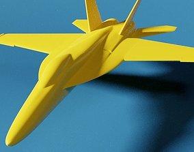 3D printable model fighter F-18 Super Hornet