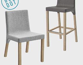 3D model Blu Dot Knicker Barstool and Chair