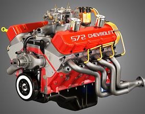 3D model Chevrolet 572 V8 Muscle Engine