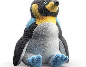 soft toy penguin Manolo 3D model
