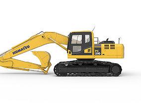 Excavator Komatsu PC 210 3D