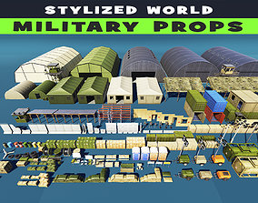 3D asset Military Supplies Stylized